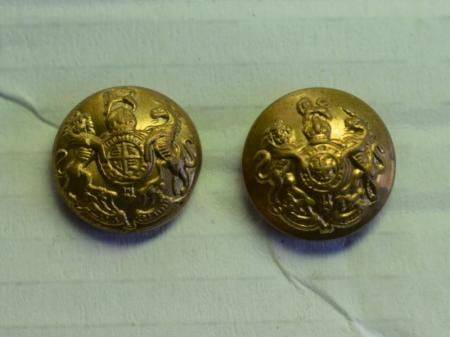 Original WW1 WW2 British Army GS Cap Button Pair 11mm