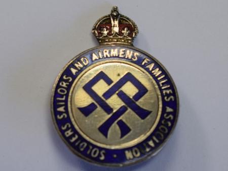 23) Excellent Original WW2 Pin Badge Soldiers, Sailors & Airman's Families Association