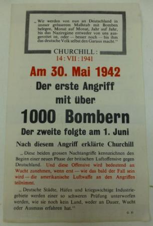 Wartime British Leaflet Dropped Over Germany 1942