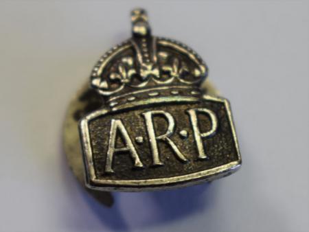 32) Excellent Original WW2 Tiny ARP Lapel Badge