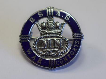 25) Excellent Original British Ship Adoption Service War Comforts Badge