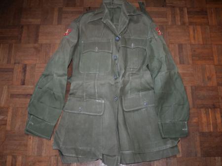 10) Original 1950s British Army Officers JG Bush Jacket with Hong Kong Insignia