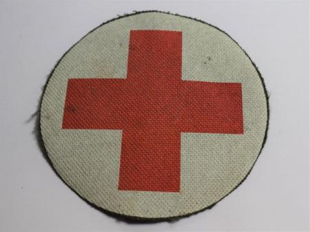 110) British Army Medics White Circle with Red Cross