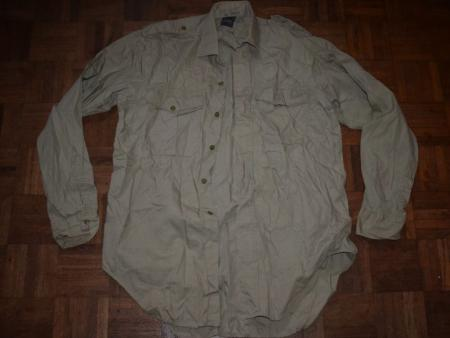 30) Good Clean 1950s-60s British Officers KD/Green Shirt