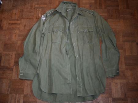 89) Nice 1940s-1950s Officers JG Aertex Shirt with 99th Gurkha Infantry Brigade