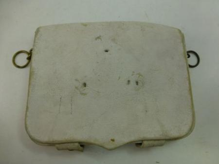 Royal Marines Band White Buff Leather Pouch Dated 1934