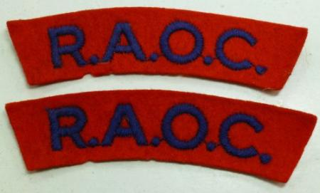 Original WW2 Royal Army Ordnance Corps Cloth Titles