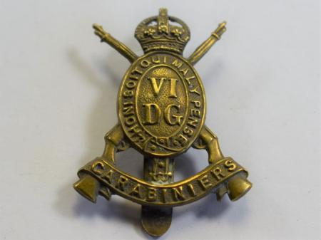 39 An Original WW1 Cap Badge The 6th Dragoon Guards Carabiniers