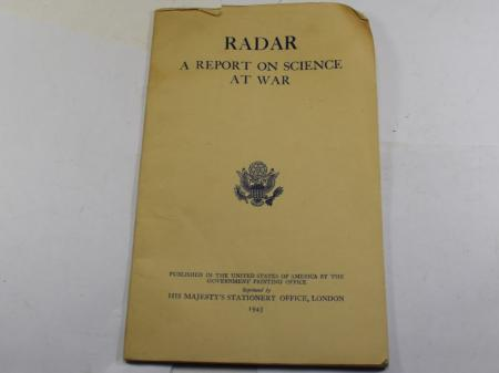 WW2 US Pamphlet, RADAR a Report on Science At War 1945