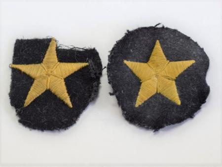 16) Original WW2 German Navy Cloth Star Badge