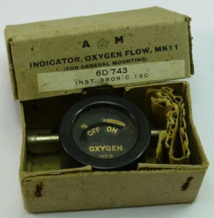 WW2 RAF Oxygen Flow Indicator MKII, In Original Box