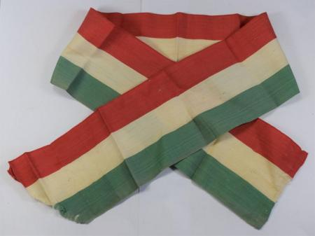 35) Original WW2 Era Italian Tri Colour Sash