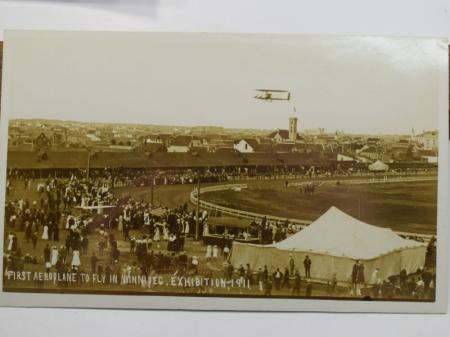 49) Original Early Postcard First Plane To Fly in Winnipeg Expedition 1911