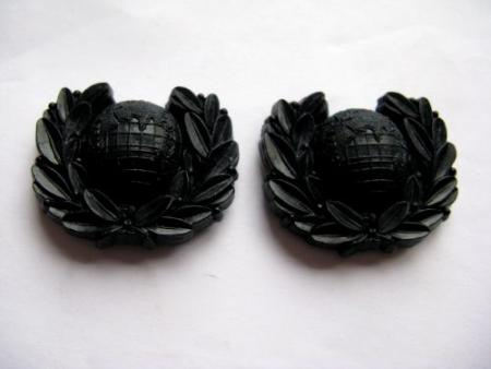Original WW2 Royal Marines Economy Bakelite Collar Dogs