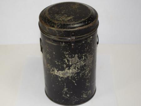 127) Original WW2 British Civilian Private Purchase Tala Respirator Tin