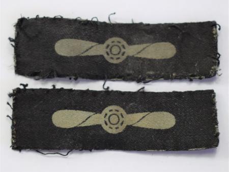 131) Original WW2 RAF Printed Leading Aircraftsman Badge Pair