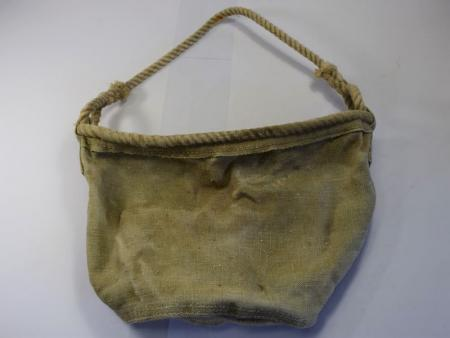 WW1 British Army Issue Canvas Bucket with Rope Handle