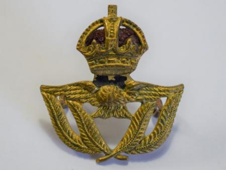 166) Original WW2 – 1950s RAF Warrant Officers Issue Beret Badge