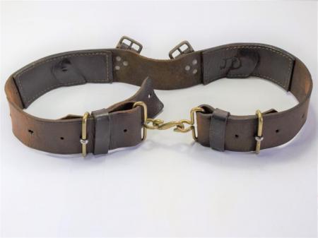 GD5) Original WW1 British Army 1914 Pattern Leather Waist Belt