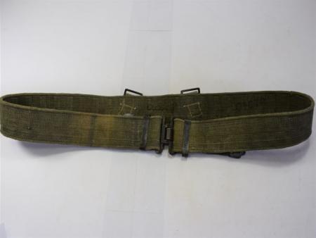 GD6) Excellent Original WW2 Indian Made Web Belt in Jungle Green