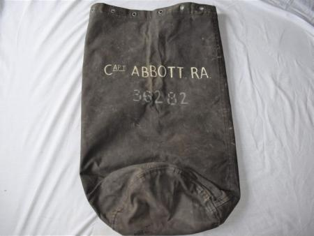 7) Nice 1939 Dated British Officers Kit Bag Capt Abbott RA, 36282