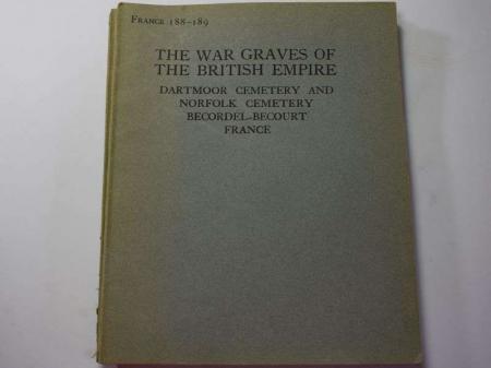 58) Original 1925 War Graves of the British Empire Booklet France 188-189