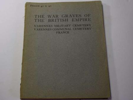 61) Original 1922 War Graves of the British Empire Booklet France 41-42