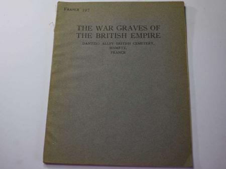 63) Original 1927 War Graves of the British Empire Booklet France 397
