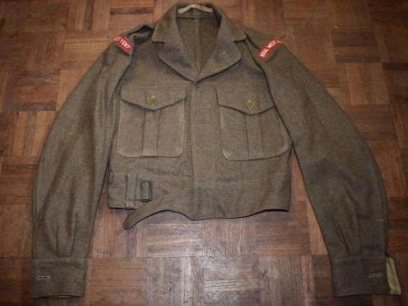 68) British Army 1949 Pat Battledress Blouse Royal West Kent