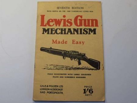 98) Original WW2 Pamphlet Lewis Gun Mechanism Made Easy 1942