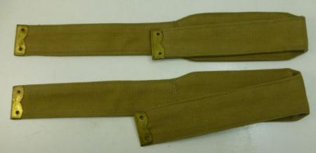 WW2 Pair Indian Made Lewis Pouch Straps 1939