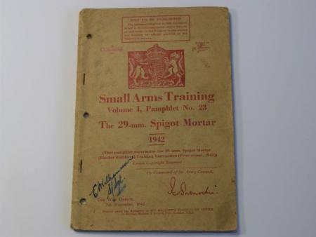 4) Original WW2 Small Arms Training Vol I Pamphlet No23 29mm Spigot Mortar