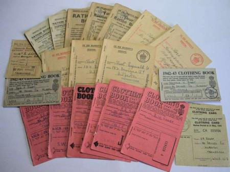 97) Interesting Group of 23 Ration WW2 Books To The Same Family, Short
