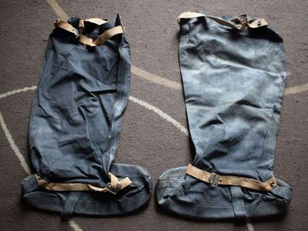 129) Excellent Original WW2 British Rubber Anti-Gas Boots Dated 1941