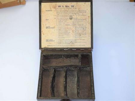 174) Excellent Original WW2 WS38 Spare Valves Case No2 ZA 12971