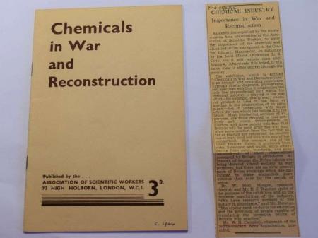 115) Original WW2 Booklet Chemicals in War & Reconstruction 1944