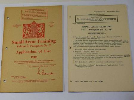 65) Original WW2 British Small Arms Training Pamphlet Vol I No 2 Application of Fire 1942