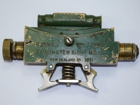 24) Original WW2 New Zealand Made Clinometer Sight MK IV 1945