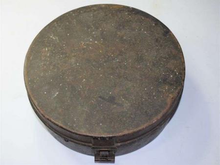 177) Early Original Victorian Pill Box Cap or Royal Navy Hat Tin