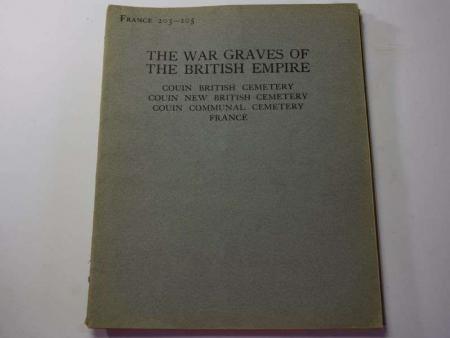 59) Original 1925 War Graves of the British Empire Booklet France 203-205
