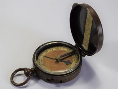 27) Excellent Boer War British Army Officers Verner Pat Compass Dated 1898