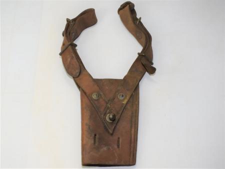 33) Original Heavy-Duty Victorian Leather Sword Frog